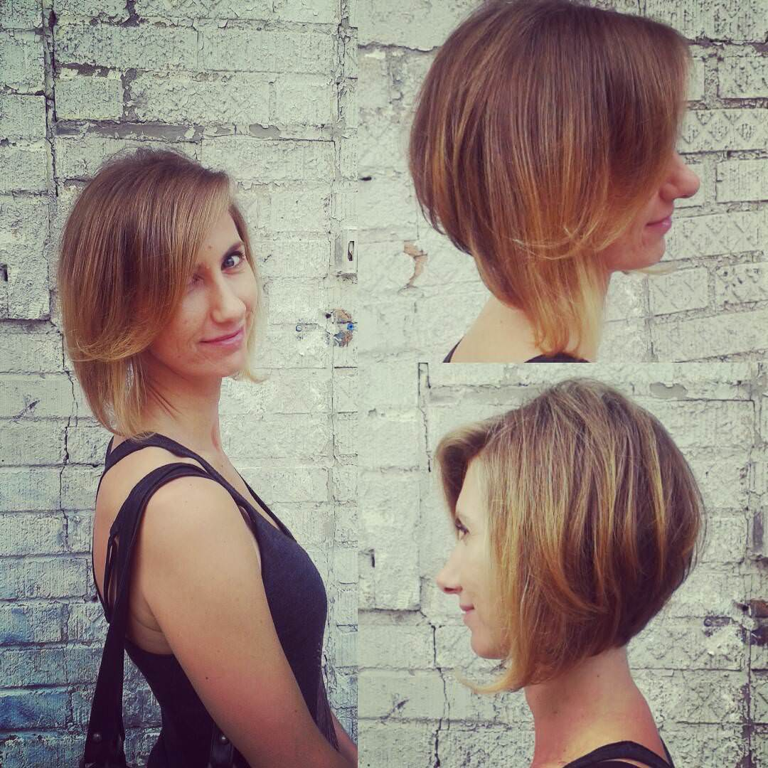 attractive modish angled bob haircut