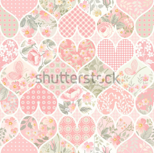 Seamless Patchwork Pattern in Pastel Colors