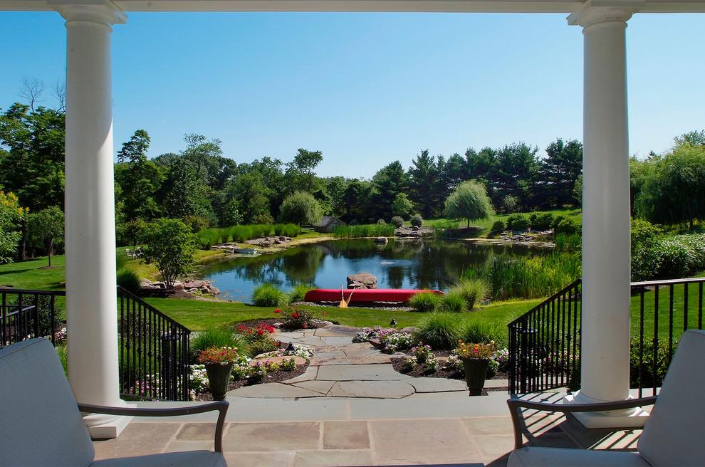 classy backyard pond design