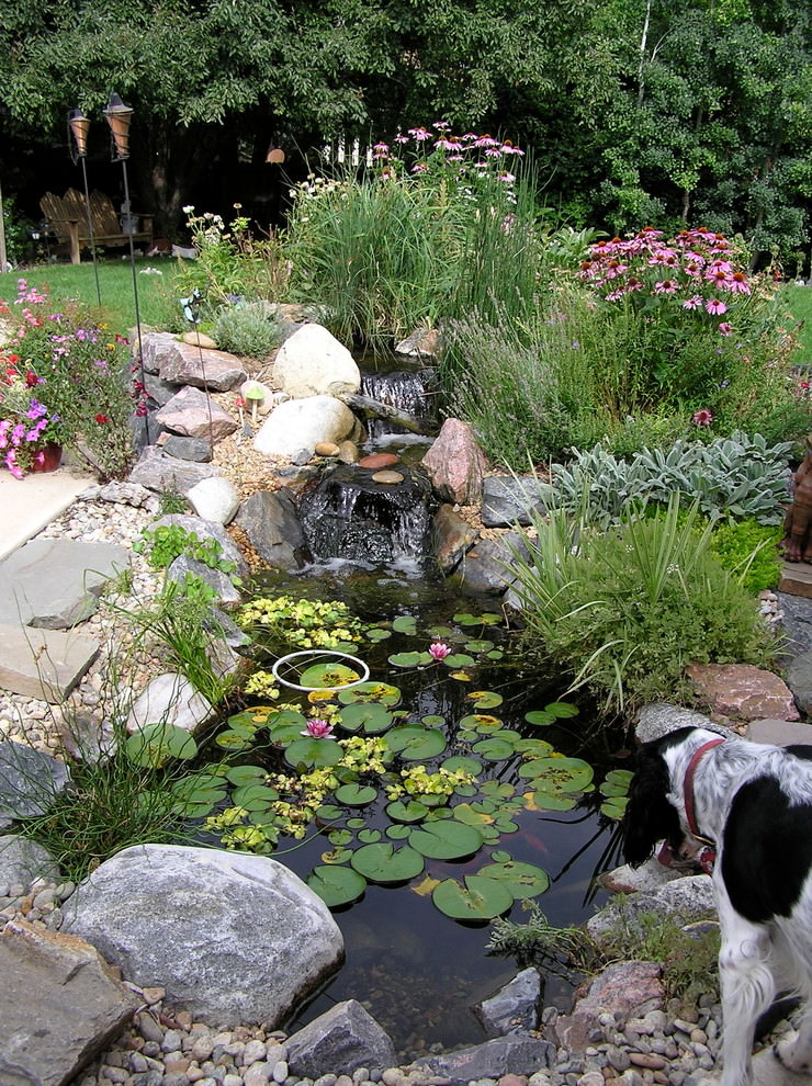 25 backyard pond designs outdoor designs design for Small garden with pond design
