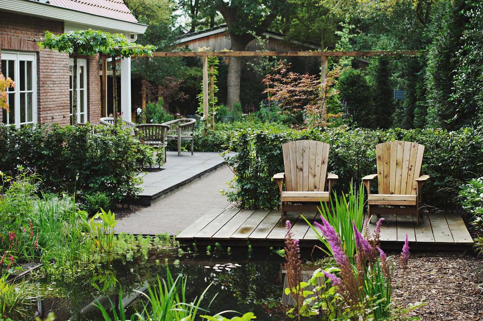 quiet backyard pond design