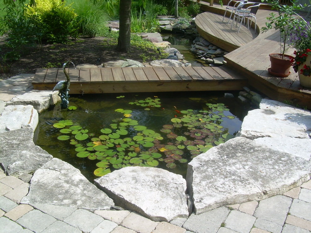 Eclectic Backyard Pond Design