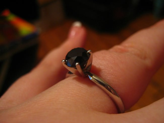 Black Diamond Ring For Engagement