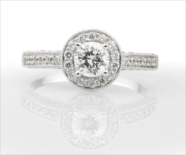 New Vintage halo engagement rings