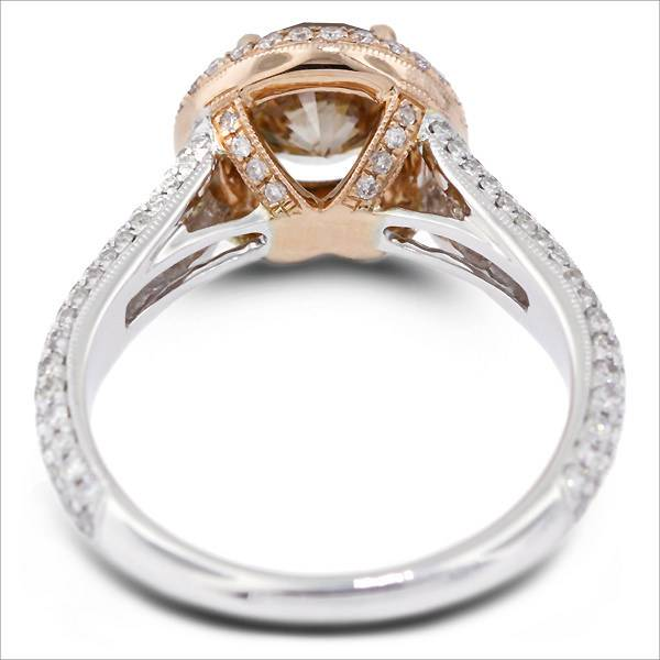 Rose Gold Engagement Ring with Platinum Mix