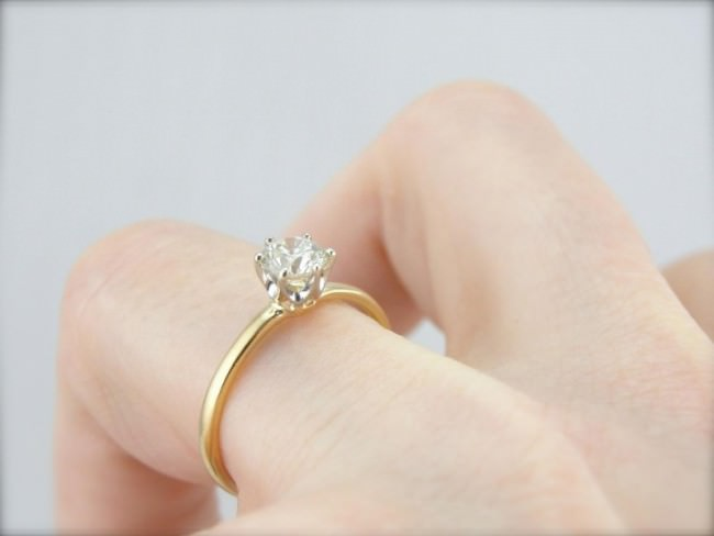 Tiffany Company Vintage Classic Engagement Ring