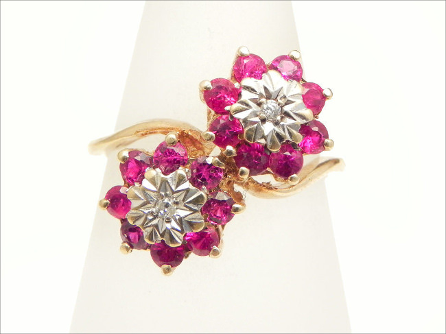 Vintage Engagement Ring Pink Sapphire Estate Ring