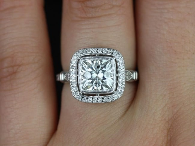 vintage engagement ring in moissnite e1459861356488