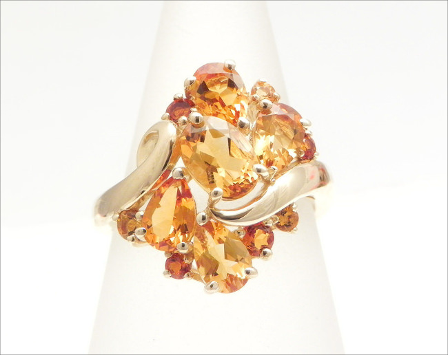 Vintage Yellow Gold Citrine Estate Ring