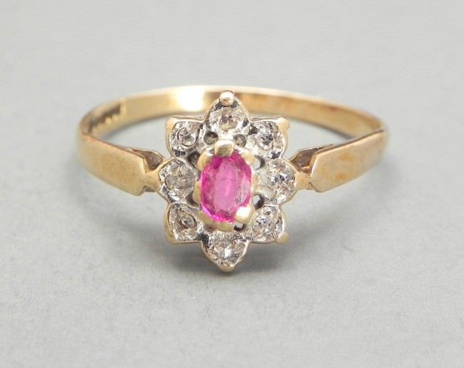 Yellow Gold Vintage Ruby Ring
