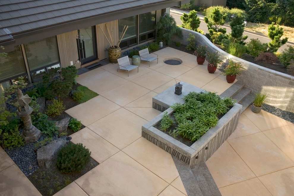 25+ Concrete Patio Outdoor Designs, Decorating Ideas ... on Basic Patio Ideas id=56463