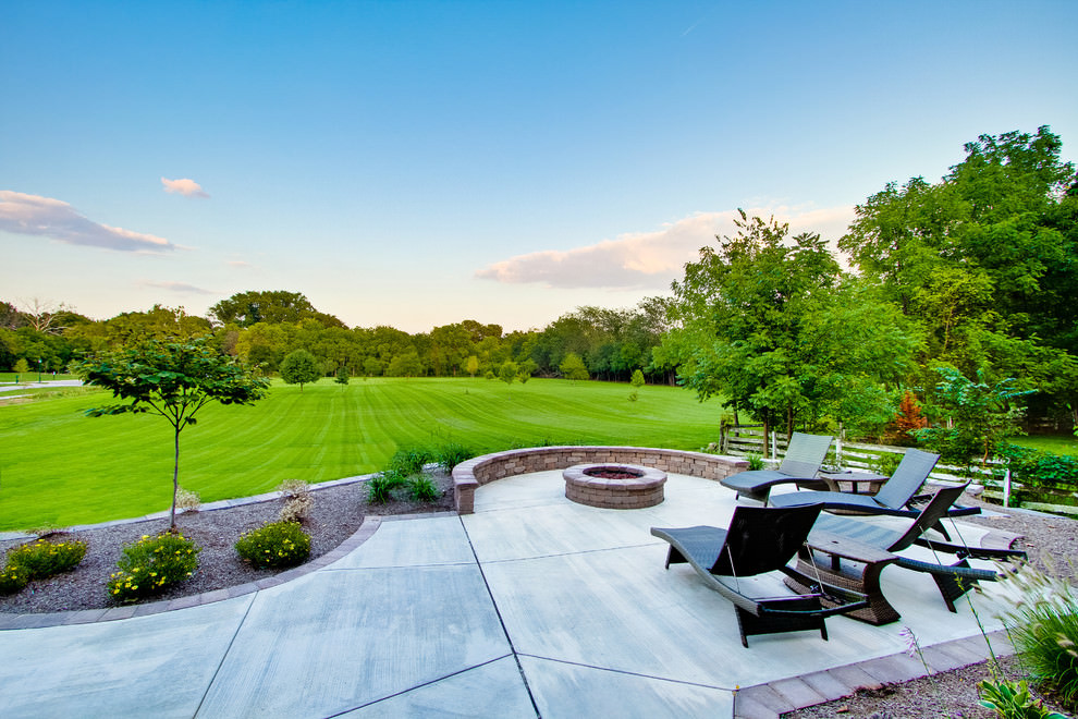scenic concrete patio design