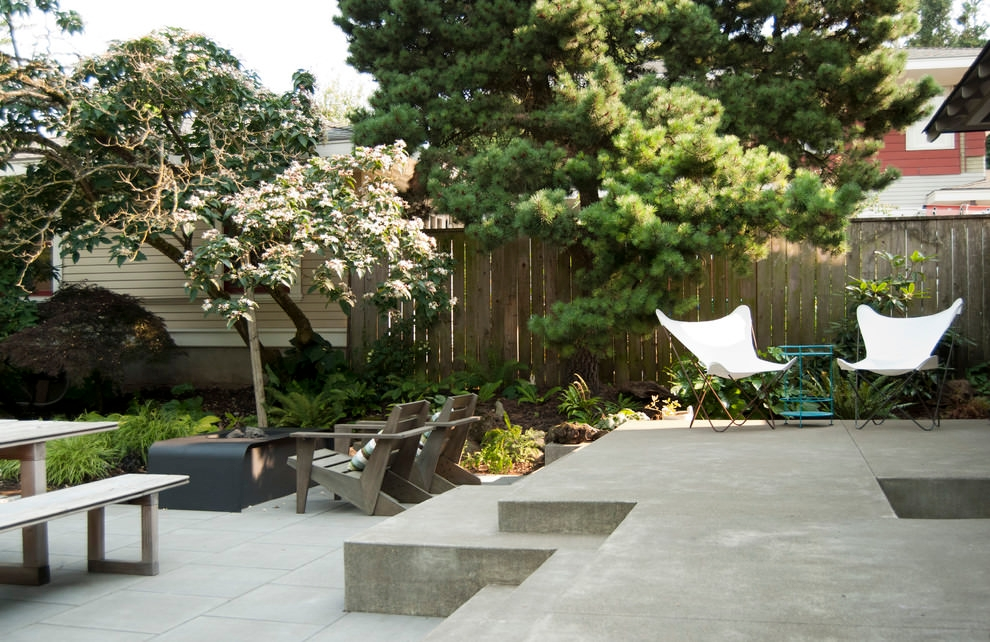 modish concrete patio design