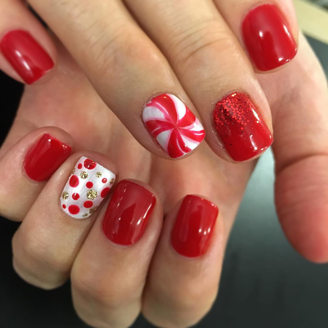 30 candy cane nail art designs ideas design trends premium dots nail design prinsesfo Image collections
