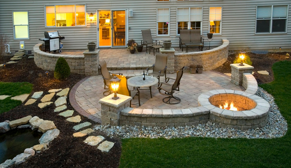 24+ Paver Patio Designs | Garden Designs | Design Trends ... on Backyard Patio Layout id=14759