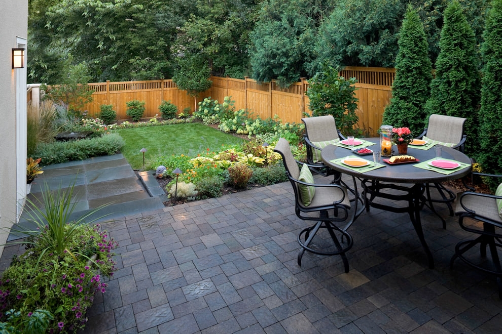 small beautiful paver patio design