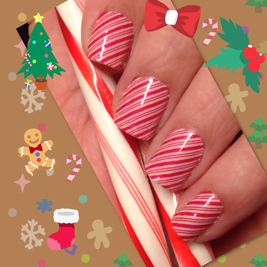 30+ Candy Cane Nail Art Designs, Ideas | Design Trends - Premium PSD ...
