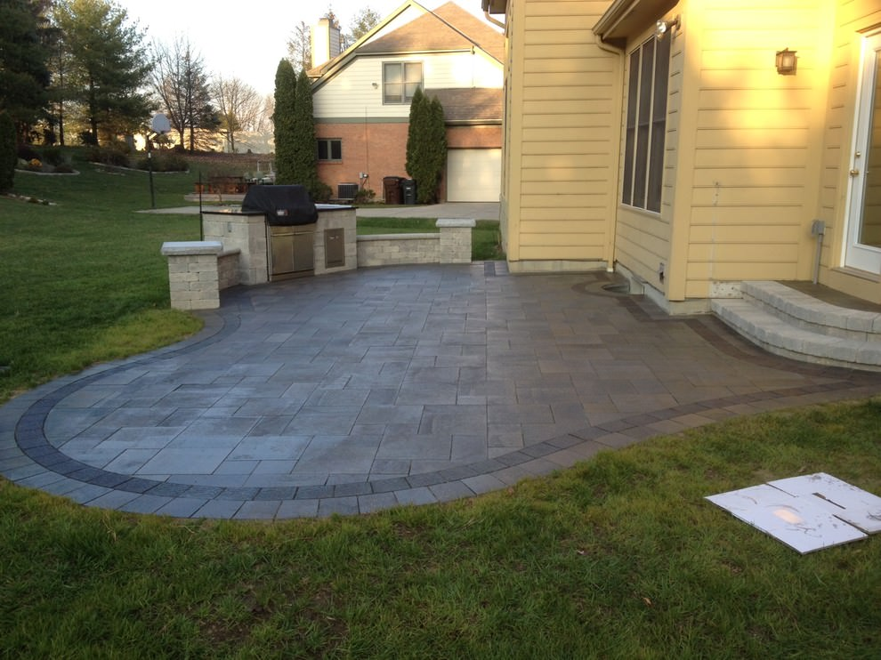 24+ Paver Patio Designs | Garden Designs | Design Trends ... on Brick Paver Patio Designs id=20598