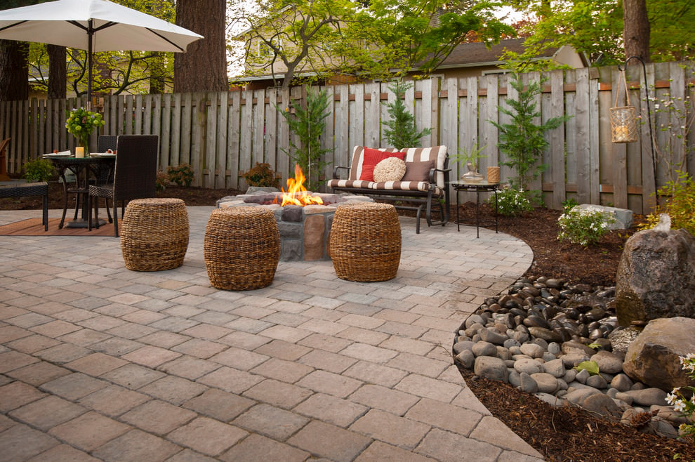 24+ Paver Patio Designs | Garden Designs | Design Trends ... on Small Brick Patio Ideas id=80481