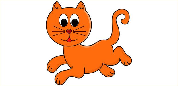 Good Running Cat Clipart