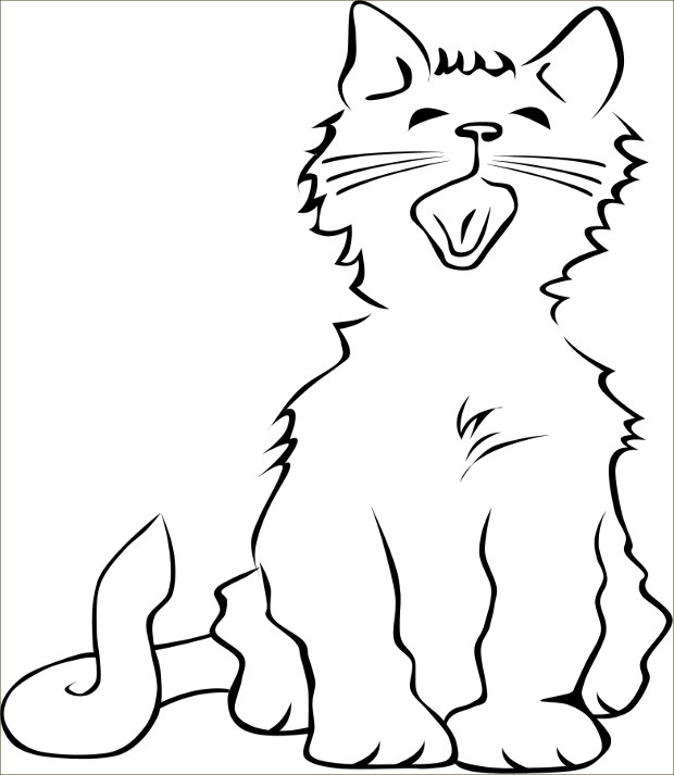 angry cat clipart