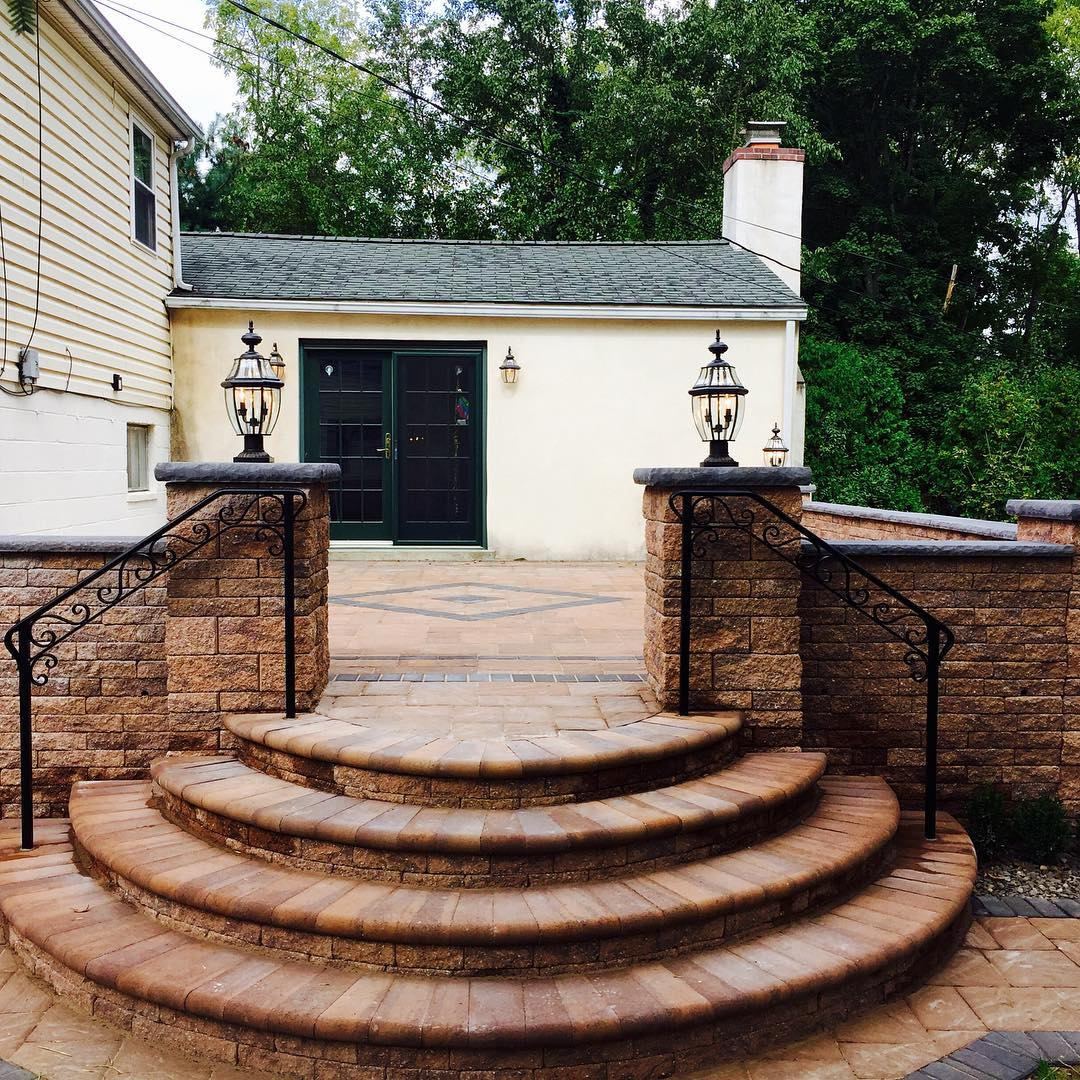 retro paver patio design