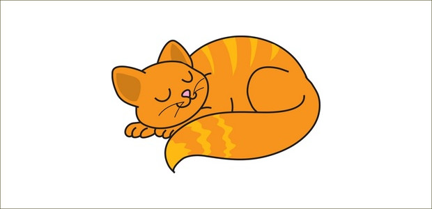 Sleeping Cat Clipart