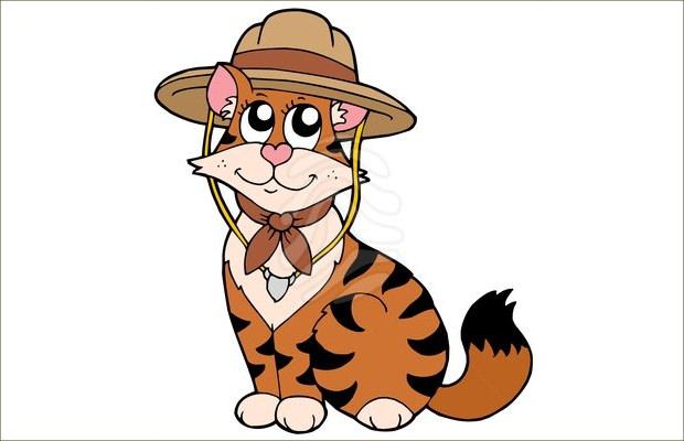 Beautiful Scout Cat Clipart