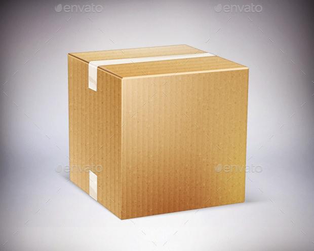 Closed Cardboard Vector Box Icon