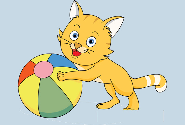 Little Playing Cat Clipart
