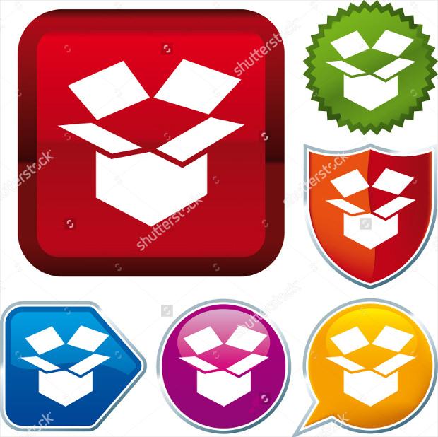 Colourful Open Box Icon Designs