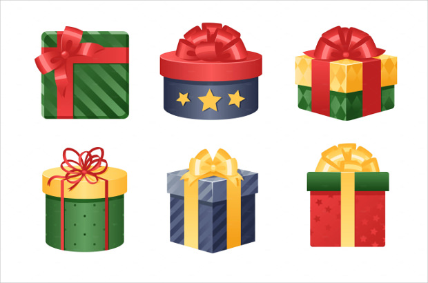 3D Gift Box Icons