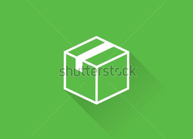 line shipping box icon