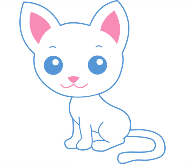 Cute Baby Cat Drawings