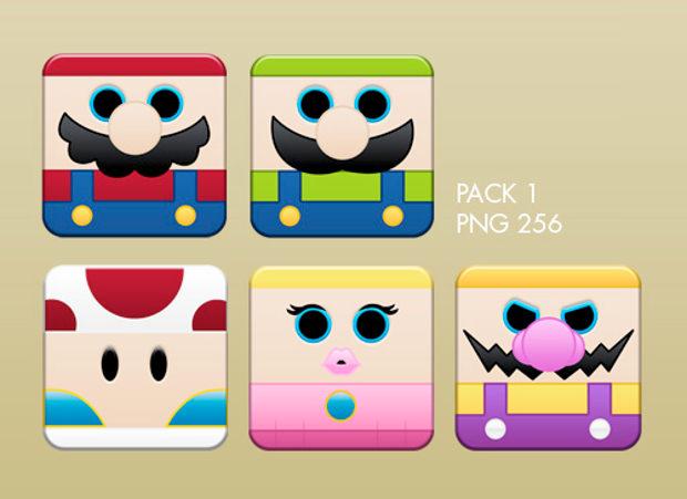 super mario box icons