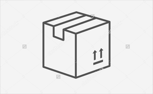 Cartoon Package Box Icons