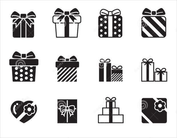 gift box icon on white background