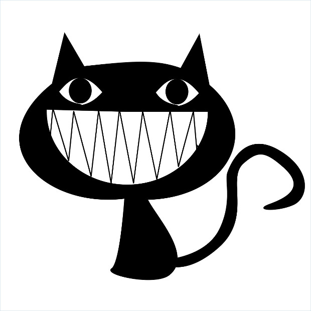 laughing black cat - photo #12