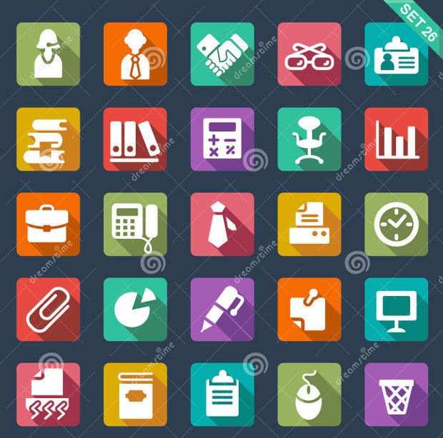 Set of 25 Office Icons