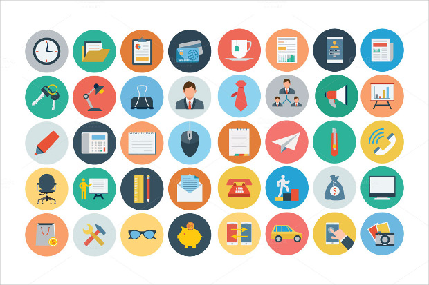 100+ Office Flat Icons