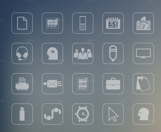 Set of 88 Office Icons