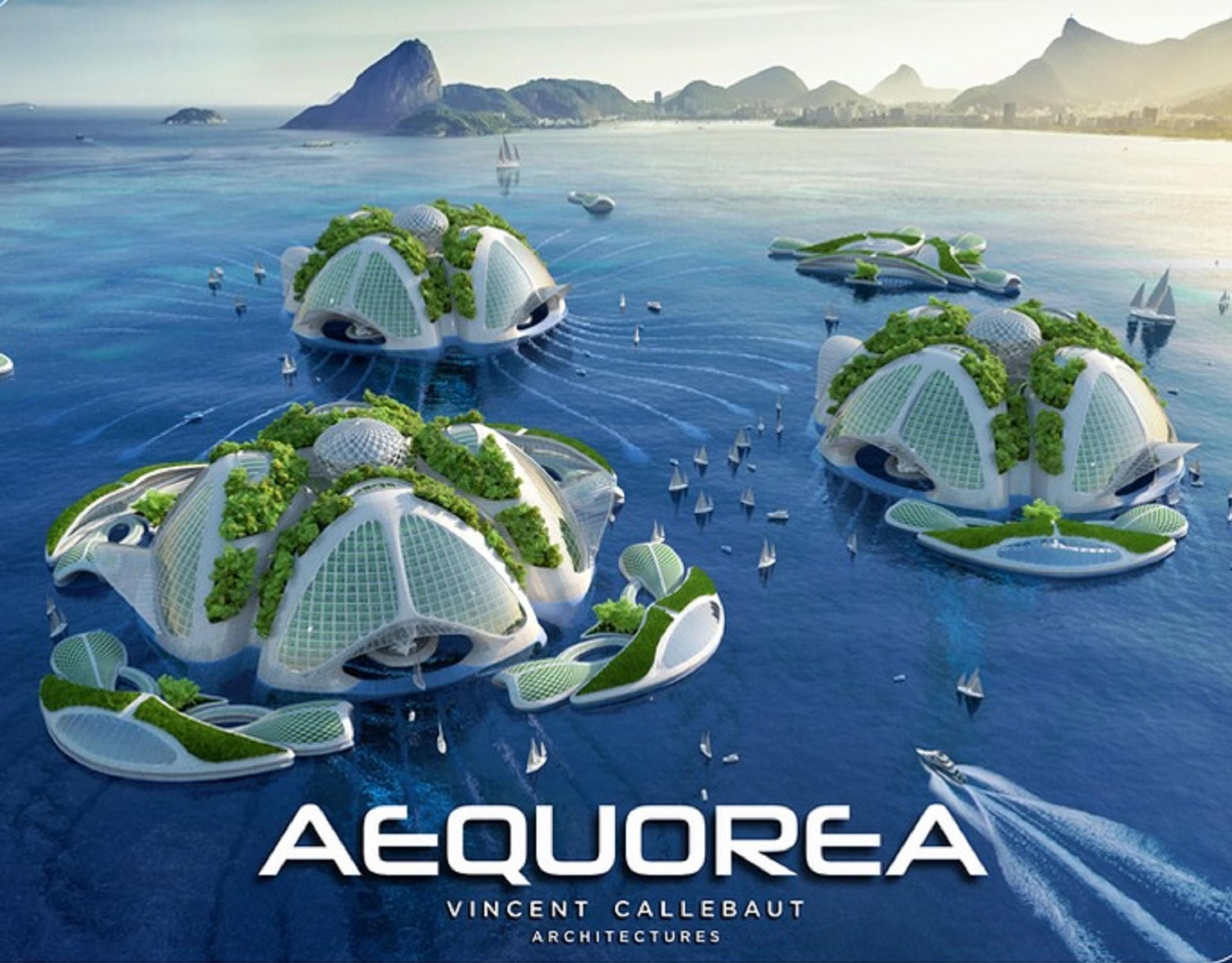 Aequorea Carbon-free 3D printed oceanscaper