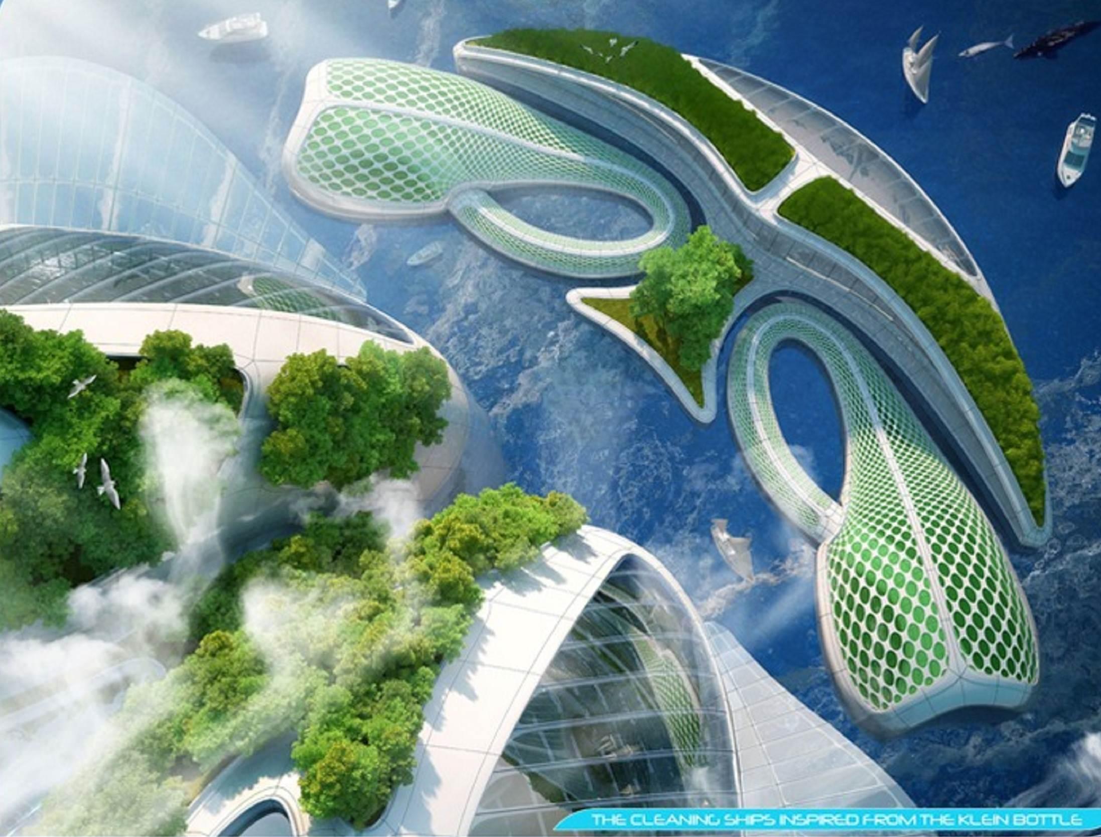 Underwater Aequorea oceanscrapers architecture