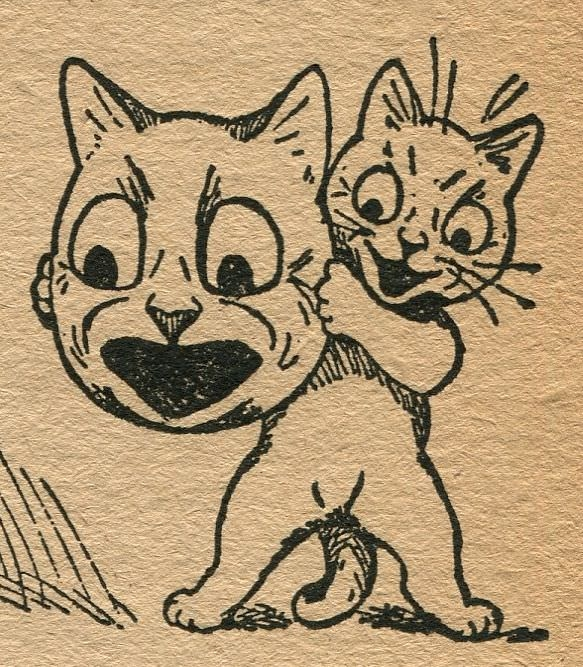 Two Funny Cats Drawing
