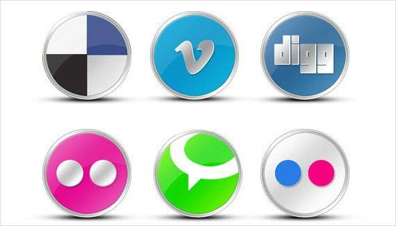 flickr round vista like social media icon 1