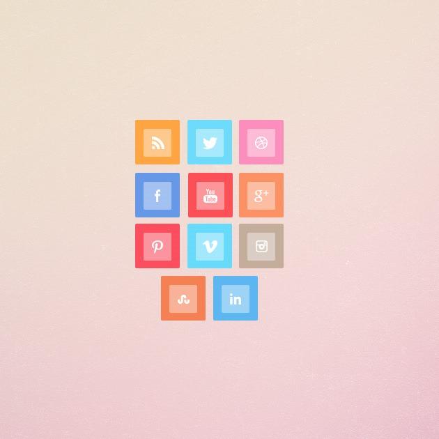 Metro style social media icons
