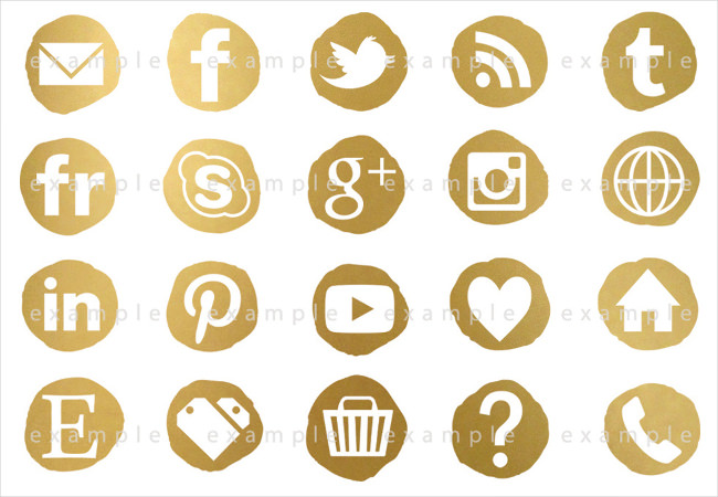 social media icons for web and print