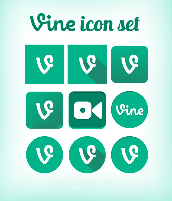 vine social meida icon set download