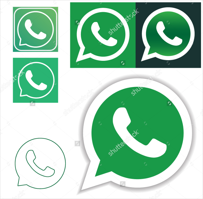 whatsapp shaded icons pack