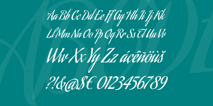 Cool Aguafina Script Font